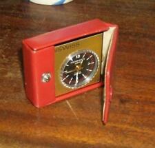Vintage MINISWISS 17 jewel travel alarm clock Minivox, Swiss . Battery
