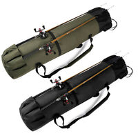 Fishing Rod Carry Bag Case Portable Outdoor Tackle Reel Storage Organizer Holder