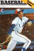 1979 MLB Baseball program Philadelphia Phillies @ Montreal Expos, # 8, unscored
