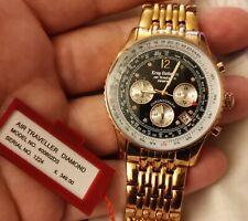 KRUG BAUMEN Mens Air Traveller Diamond Watch 400602DS - Rose Gold             *E