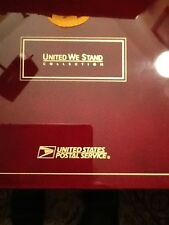 Usps.United We Stand Collection 25-Pcs.Stamps 24-K.Gold On 999.Silver Stamp Ingo