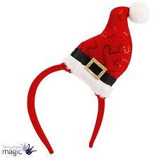 Novelty Santa Sequin Hat Christmas Office Party Headband Fancy Dress Accessory