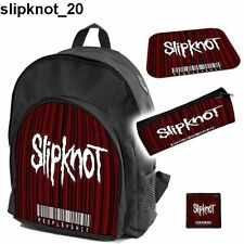 SLIPKNOT RAMMSTEIN SET school backpack pencil case+free mouse pad and patch