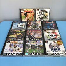Sony Playstation 1 Games FIFA 2002, FIFA 2001, ACTUA SOCCER 97, LMA MANAGER 2001