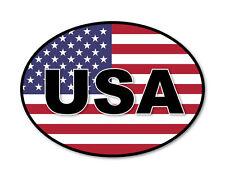 2 x USA/AMERICAN Flag Car Van Lorry vinyl Self Adhesive stickers