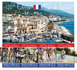Union Island 2013 - Tour de France Sheet of 4 Stamps MNH
