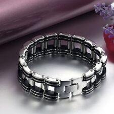 Biker Bracelet Fashion Black Jewelry Link Men's Bracelet Chain Stainless