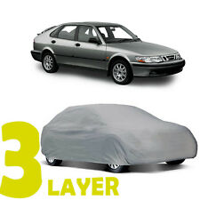 TRUE 3 LAYERS GRAY FITTED SUV COVER INDOOR/OUTDOOR WATER RESISTANT for SAAB 9-3