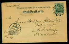 GERMANY OFFICES IN CHINA 1910 #25 5PF TIED TONGKU ON CARD TO GERMANY