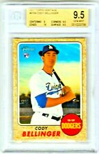 2017 Topps Heritage Cody Bellinger Rookie RC #678 GEM MINT BGS 9.5 w/10 sub!