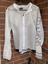 Reebok CrossFit Mens Large Full Zip Featherweight White Run/Fitness Jacket
