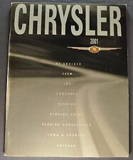2001 Chrysler Brochure PT Cruiser 300M LHS Concorde Cirrus Sebring Town Country