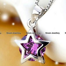 BLACK FRIDAY DEALS Purple Crystal Star Necklace XMAS GIFTS FOR HER women Mum BD3