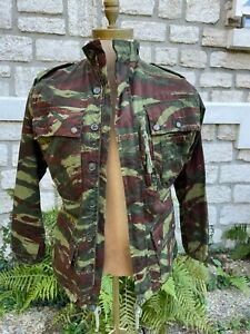Veste et pantalon BARBOUZE GENRE  TAP M47/56 camouflée  retaillée  Algérie.