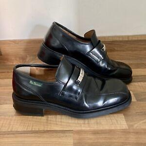 Vintage Retro Mens Ben Sherman Shoes Black UK Size 9