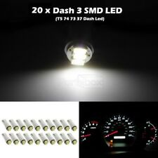 20x White 3 SMD Led Bulbs T5 70 73 74 For Instrument Dashboard Gauge Speedo Ligh
