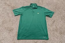 Masters Tech Performance Mens Solid Green Short Sleeve Golf Polo Shirt Size M