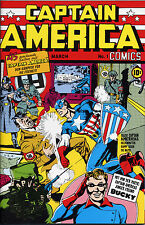 CAPTAIN AMERICA COMICS #1 GOLD-STAMP-VARIANT limited GERMAN REPRINT