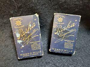 Vintage Pasha cigarette packet x2 EMPTY