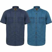 Mens Denim Shirt Tokyo Laundry Short Sleeve Casual Top Double Pocket Summer New