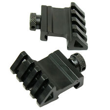 2 PCS 1 Pair 45 Degree Offset Rail Mount Quick Release for Picatinny Weaver Rail