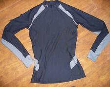 UNDER ARMOUR Mock Cold Gear Compression Tight Fit LS Shirt M S Black Gray EUC!