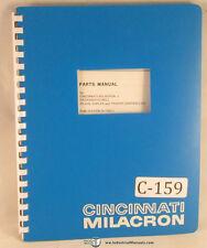 Cincinnati Milacron Hydromatic Tracer Control Milling, Parts Manual