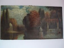 Antique Original Oil On Canvas Landscape Painting, ca. 1700