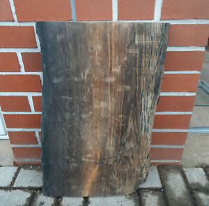 R5 Mooreiche 62x38 Bohle Brett Bog Oak Wasch Tisch Platte Altholz Drechselholz