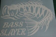 Huge Bass slayer graphic, Fishing graphic, decals, stickers. Bassmaster,skeleton