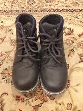 Sonoma Boy Snaiken Grey Weathered 1/Med Black Laces Tie Boots Fall Winter Shoe