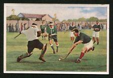 1933 SANELLA MARGARINE -- #45 FIELD HOCKEY CARD  --GERMAN HANDBOOK OF SPORTS