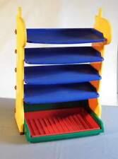 Kinderregal, Spielzeugregal Dinosaurier,  5 Fächer Kunststoff, leicht zerlegbar