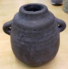 African Tribal Jug Flower Vase Hand Painted Grey Indoor Outdoor Garden Yard Home