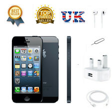 APPLE IPHONE 5 16GB SMARTPHONE BLACK FACTORY UNLOCKED SIM FREE New & Sealed