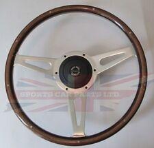 """New 15"""" Laminated Wood Steering Wheel & Hub Adaptor Sunbeam Alpine Tiger"""