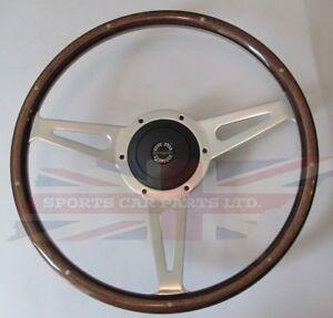 "New 15"" Laminated Wood Steering Wheel & Hub Adapter Sunbeam Alpine Tiger"