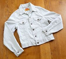 Rare Vintage White Levis Corduroy Trucker Jacket 70500 Size M Lovely Example