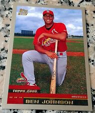 BEN JOHNSON 2000 Topps Traded Rookie Card RC LOT 10 Cardinals Memphis Tennessee