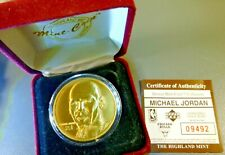 Michael Jordan Bronze Medal W/ Display Case & COA Limited Edition Highland Mint