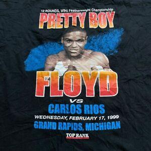 Vintage 1999 90's Pretty Boy Floyd Mayweather Carlos Rios Boxing WBC T Shirt