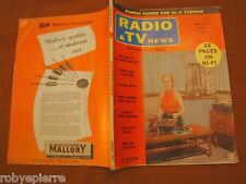 Radio e Tv News n 2 august 1957 vol 58 vintage rumble filters magazine systems
