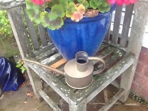 Vintage  HAWS copper small indoor long reach watering can