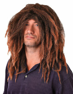 Mens Jamaican Rasta Bob Marley Dreadlocks Hair Wig Fancy Dress Reggae Adults