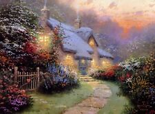 Thomas Kinkade Glory of Evening with gold frame 15' x 15'