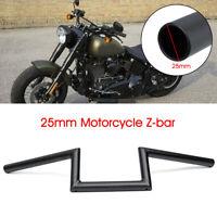 1'' 25mm Motorcycle Handle Drag Z-Bar Handlebar For Suzuki Honda Black