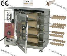Heavy Duty Electric Hungarian Kurtos Kalacs Machine Chimney Cake Roll Grill Oven
