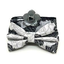 Geometric Flower Chain Silk Banded Bowtie SBB2050