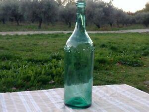 UN CINZANO Grande bouteille ancienne Verre bullé Hauteur 51 cm  Déco...