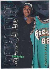 1996-97 FLEER METAL EDGE: SHAREEF ABDUR-RAHIM #12 OF 15 ROOKIE EMBOSSED INSERT